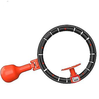 Adjustable automatic counting fitness hula hoop For 60-120 cm waist circumference(Black)