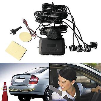 4 parkeersensoren auto back-up achteruitrijradar achteruitkijk zoemer geluidsalarm