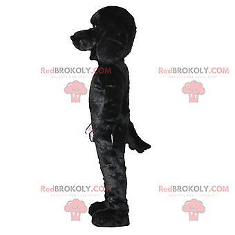 Maskotti REDBROKOLY.COM pehmeä ja söpö musta koira.Koiran valepuku