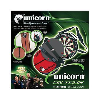 Yksisarvinen darts kiertueella kannettava matkajärjestelmä dartboard & Ochemate & Short Oche