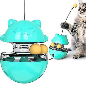القط لعب متعة بهلوان الحيوانات الأليفة بطء ألعاب الترفيه الغذائي جذب انتباه القط الأزرق قابل للتعديل