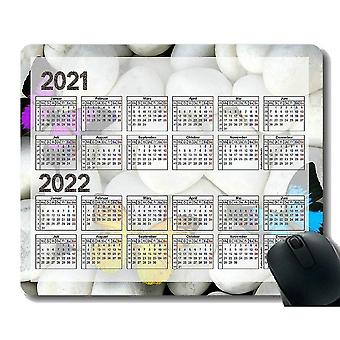 Keyboard mouse wrist rests 220x180x3 calendar for 2021 mouse pad anti-slip stone art butterfly mouse pad with stitched edge