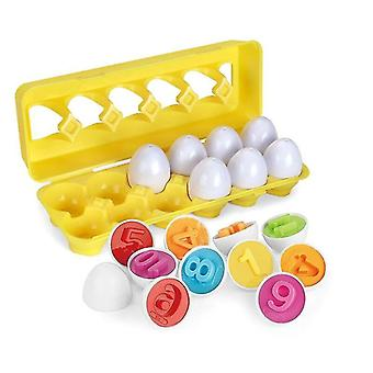 Interlocking blocks baby montessori early learning educational toys egg puzzle game baby toy color recognize shape