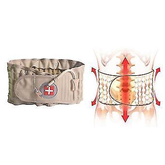 Gait belts breathable lumbar inflatable traction belt lumbar support air waist support brace belt khaki size