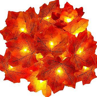 Fairy Lights 30 Maple Leaf Light Garten Außenleuchten Thanksgiving Dekorationen