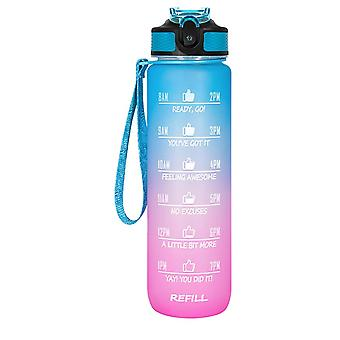32 Oz Motivational Water Bottle With Time Marker & Straw -  Frosted Portable Reusable Fitness Sport 1l Water Bottle For Men Women Kids Student To Offi