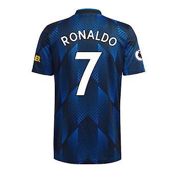 Miesten jalkapallo Jersey Mnchester 2021-2022 Uusi kausi United #7 Ronaldo Soccer Jersey Urheilu T-paidat Koko S-xxl