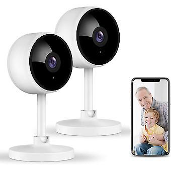 Cameră de securitate Wifi, cameră wireless 1080p în interior cu sunet în 2 căi, detecție mișcare umană