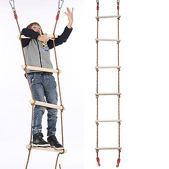 Children's Rope Ladder Swing Six-stage Wooden Climbing Ladder