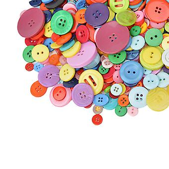 Color Buttons, About 600 Pcs 2 And 4 Holes Diy Handmade Ornament