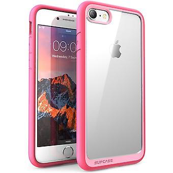 iPhone 7 fall, SUPCASE Unicorn skalbagge stil, Hybrid skyddande tydlig stötfångare fallet-rosa