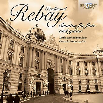Ferdinand Rebay - Ferdinand Rebay: Sonater för flöjt och gitarr [CD] USA import