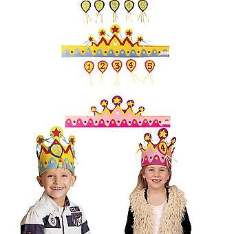 Couronne d'enfants avec numéro 1 à 5 anniversaire couronne anniversaire fête d'enfants