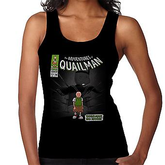 Quailman No More Doug Comic Superhero Women's Vest