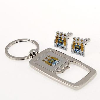 Manchester City gemelli & Keyring Bottle Opener Set