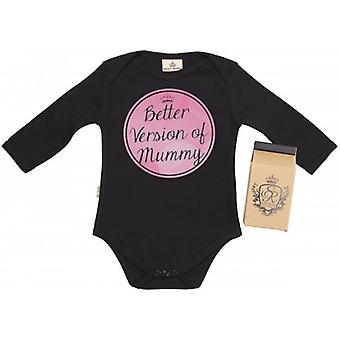 Spoilt Rotten Better Version Of Mummy Baby Grow 100% Organic In Milk Carton