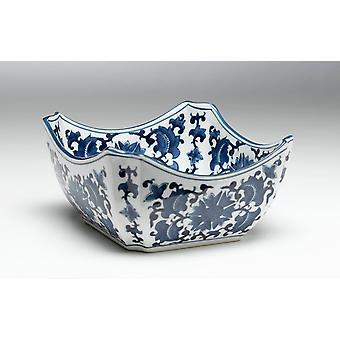 AA, importowanie 59710 miska kwadrat niebieski i biały