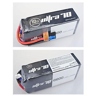 6600 mAh 70C 6s2p 22,2 v, 12 C laden