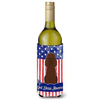 Patriottico USA Water Spaniel irlandese bottiglia di vino Beverge isolante Hugger
