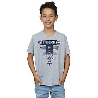 DC Comics Boys Justice League Movie Logo Badges T-Shirt