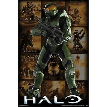Halo - Key Art Grid Poster Poster Print