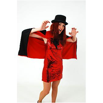 Capes Halloween Cape 90 cm rød / sort