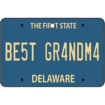 Delaware - bedste bedstemor licens plade bil luftfriskere