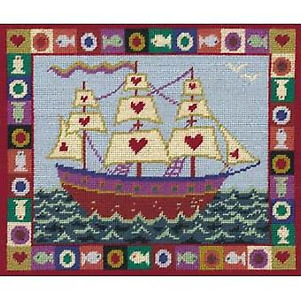 Ship of Hearts Needlepoint Kit