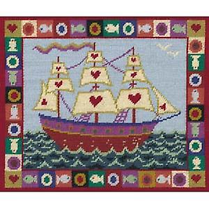Ship of Hearts Tapisserie Toile