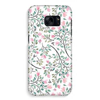 サムスン S7 ケース - 可憐な花の完全なプリント
