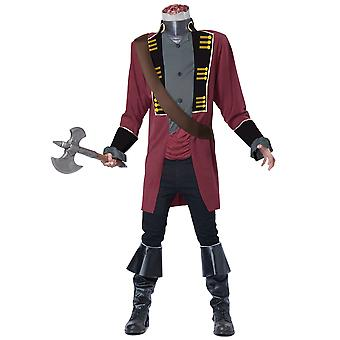 Sleepy Hollow Headless Horseman Medieval Ghost Horror Fox Series Mens Costume