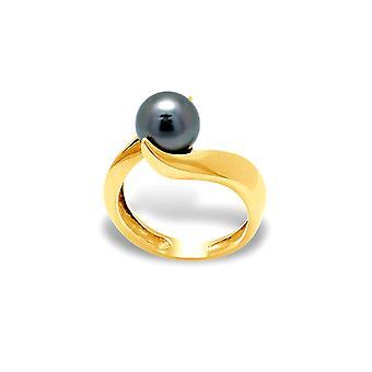 8 mm Tahitian Pearl kvinders ring og gule guld 375/1000