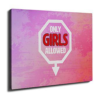 Only girls Slogans Funny Wall Art Canvas 40cm x 30cm | Wellcoda