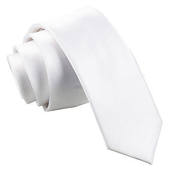 Valkoinen Plain Satiini laiha solmio