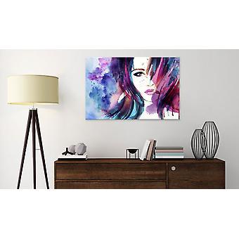 Schilderij - Watercolor Girl60x40