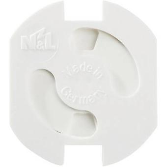 Sikkerhet socket dekker hvit Heidemann 43180