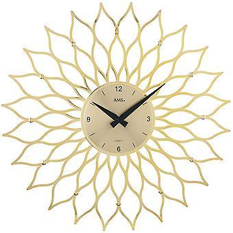 Kvarts vegg klokke vegg klokke kvarts design blomst plast gull metall ringer