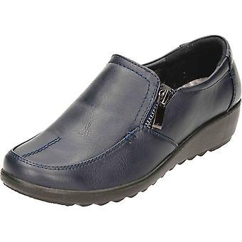 Cushion-Walk Black Cushioned Wedge Slip On Shoes