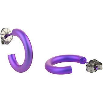 Ti2 Titanium 12mm Hoop Earrings - Imperial Purple