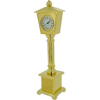 Cadeau producten Lamp Post miniatuur prikklok - goud