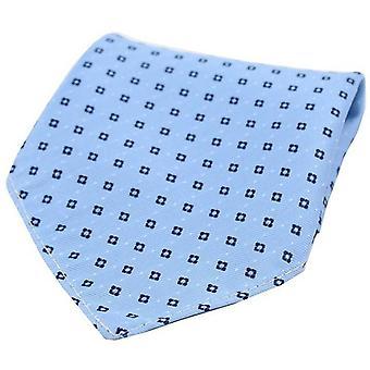 David Van Hagen Neat wzór Silk Pocket Square - niebieski/granatowy