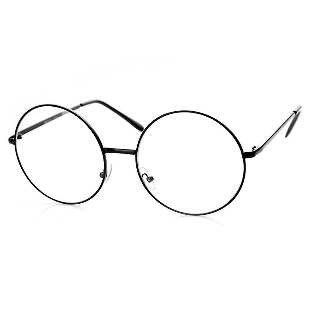 ROUND CLEAR GLASSES BLACK