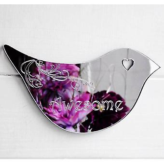 Floral Dove acryl spiegel deur of muur Sign - AWESOME