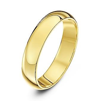 Star Wedding Rings 18ct Yellow Gold Heavy D 4mm Wedding Ring