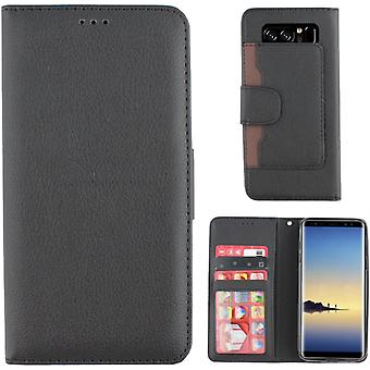 Portefeuille Colorfone Samsung Galaxy Note 8 Portefeuille Cas BLACK