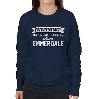 Waarschuwing kan beginnen te praten over Emmerdale vrouwen Sweatshirt