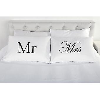 Mr and Mrs Pair of Pillow Cases