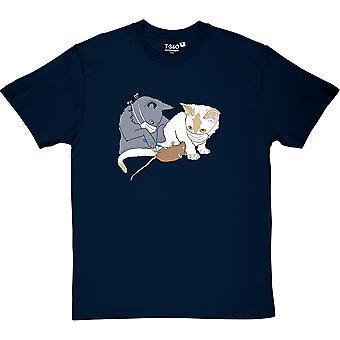 Camiseta gatos quirúrgica masculina