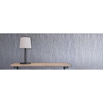 Décoration de mur papier peint argenté élégant Milano 4 Texture 10,05 m x 0,53 m
