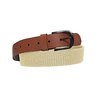 ENZO Mens Stone Canvas Elasticated Stretch Belt Adjustable Buckle | Enzo Designer Menswear